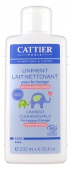 Cattier Baby Hypoallergenic Liniment Cleansing Milk for Nappy Change 200ml