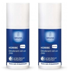 Weleda Roll-on Herren Deodorant 24H Packung 2 x 50 ml