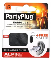 Alpine Hearing Protection Partyplug Bouchons d'Oreille + Minibox Gratuite