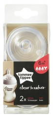 Tommee Tippee Closer to Nature 2 Thick Preparation Teats 6 Months and +