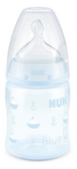 NUK First Choice + Rose & Blue Biberon Silicone 150 ml 0-6 Mois