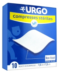 Urgo Sterile Pads 10 Sachets of 2 Pads