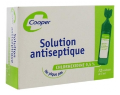 Cooper Antiseptic Solution Chlorhexidine 0.5% 12 x 5ml