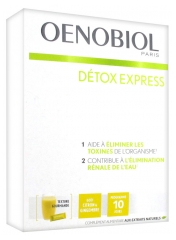 Oenobiol Détox Express Lemon and Ginger 10 Sticks
