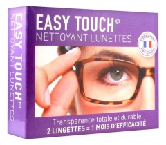 Easy Touch Eyeglasses Cleanser 2 Wipes + 1 Microfiber