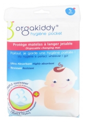 Orgakiddy Disposable Changing Mat Protects 5 Mattress Protects