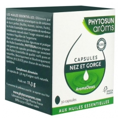 Phytosun Arôms Aromadoses Nose and Throat 30 Capsules