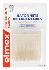 Elmex Decays Protection Interdental Sticks 3 x 38 Sticks
