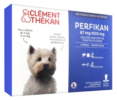 Clément Thékan Perfikan 67mg/600mg Little Dogs 4 Pipettes