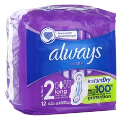 Always Ultra Long 12 Serviettes Taille 2