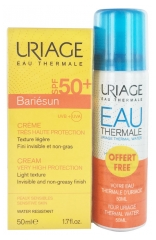 Uriage Bariésun Crema SPF 50+ 50 ml + Agua Termal 50 ml Gratis
