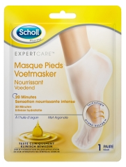 Scholl Expertcare Nourishing Foot Mask With Argan Oil 1 Pair