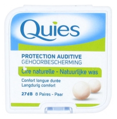 Quies Protección Auditiva con 8 Pares de Cera Natural