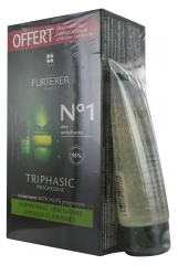 Furterer Triphasic Progresiva Ritual Anticaída Tratamiento Anticaída Progresiva 8 x 5,5 ml + Champú Estimulante 100 ml de Regalo