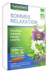 Naturland Organic Sleep Relaxation 20 Phials of 10ml