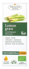 NatureSun Aroms Organic Essential Oil Lemongrass (Cymbopogon Flexuosus) 10ml