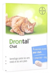 Bayer Drontal Cat Deworming 4 Tablets
