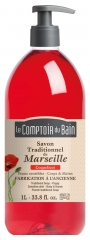 Le Comptoir du Bain Poppy Marseille Traditional Soap 1L