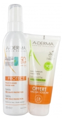 Aderma Protect Very High Protection Spray SPF 50+ 200ml + Hydra-Protective Shower Gel 100ml Offered
