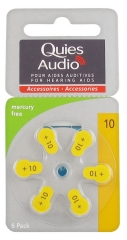 Quies Audio 6 Piles Zinc Air pour Aides Auditives (10)