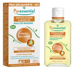 Puressentiel Muscles and Joints Organic Massage Oil 100ml Special Offer