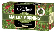 Celliflore Green Tea Matcha Morning with 5 Plants 25 Sachets