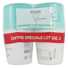 Vichy Deodorant Antitranspirant 48Stdn Roll-On Packung von 2 x 50 ml