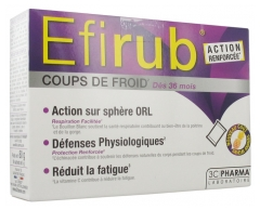 3C Pharma Efirub Colds Pineapple Flavour 16 Sachets