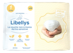 Libellys Couches Non-Irritantes Dermo-Sensitives Taille 1 (2-5 kg) 26 Couches