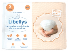 Libellys Couches Non-Irritantes Dermo-Sensitives Taille 2 (3-6 kg) 30 Couches