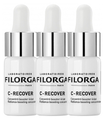 Filorga C-RECOVER Concentré Anti-Fatigue Éclat 3 Flacons de 10 ml