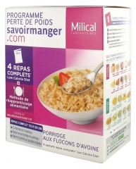 Milical Weight Loss Program Porridge with Oatmeal 4 Sachets