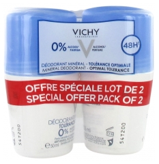 Vichy 48HR Mineral Deodorant Optimal Tolerance Roll-On 2 x 50ml