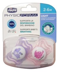 Chicco Physio Forma Light 2 Silicone Soothers 2-6 Months