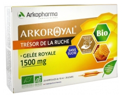Arkopharma Arko Royal Beehive Treasure Royal Jelly 1500 mg Sugar Free Organic 20 Vials