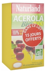 Naturland Acerola Bio 1000 2 x 30 Tablets to Crunch