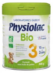 Physiolac Organic 3 From 1 To 3 Years 800g