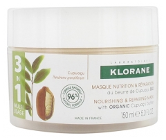 Klorane 3in1 Nourishing and Repairing Mask with Organic Cupuaçu Butter 150ml