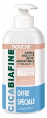 CicaBiafine Crème Douche Hydratante Anti-Irritations Lot de 2 x 400 ml