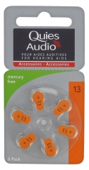 Quies Audio 6 Piles Zinc Air pour Aides Auditives (13)
