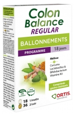 Ortis Colon Balance Regular Bloating Program 36 Plant Tablets + 18 Ferment Lactic Tablets