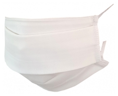 Washable Fabric Mask for Children White Colour