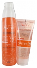 Avène Sun Care Spray SPF50+ 200ml + Body Gentle Shower Gel 100ml Free