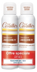 Rogé Cavaillès Déodorant Absorb+ 48H Lot de 2 x 150 ml