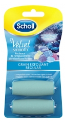 Scholl Velvet Smooth Express Pedi Cristaux de Diamants Grain Exfoliant 2 Rouleaux de Remplacement
