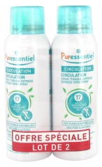 Puressentiel Spray Circulation aux 17 Huiles Essentielles Lot de 2 x 100 ml