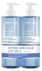 Vichy Dercos Mineral Soft and Fortifying Shampoo 2 x 400ml