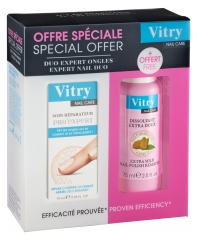 Vitry Nail Care Pro' Expert Repairing Care 10ml + Extra Gentle Nail Polish Remover 75ml Offered