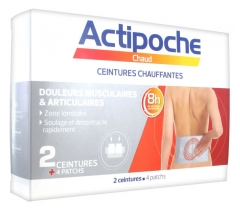 Cooper Actipoche 2 Heating Belts Muscle & Joint Pains + 4 Patches