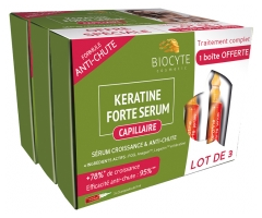 Biocyte Anti-Chute Keratine Forte Serum Lot de 3 x 5 Ampoules